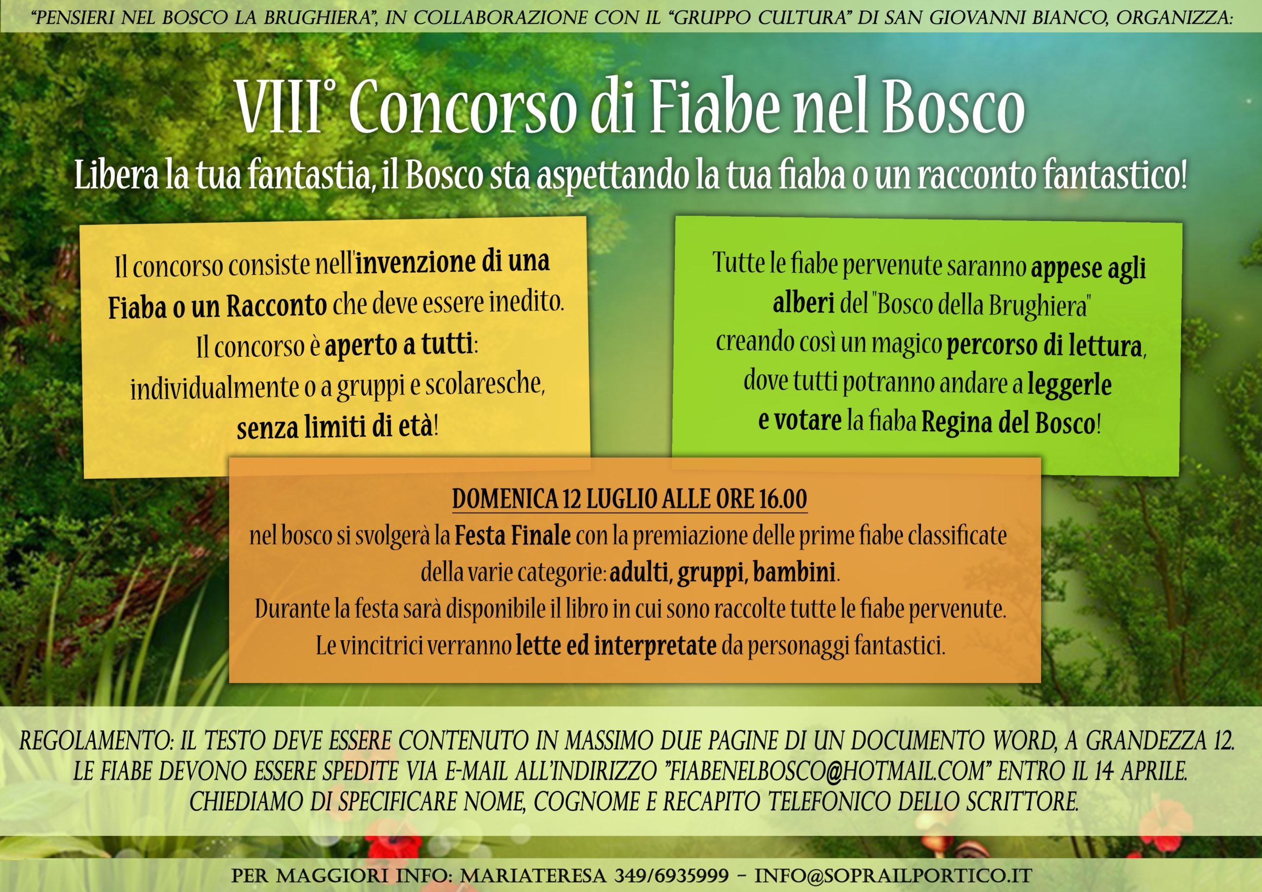 VIII° CONCORSO DI FIABE NEL BOSCO 2020